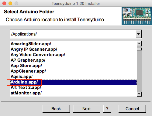 Teensyduino 1.20 Installer